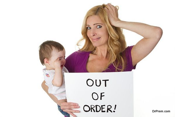 stress in motherhood concept