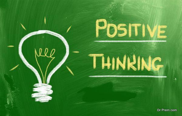 Think Positive Concept