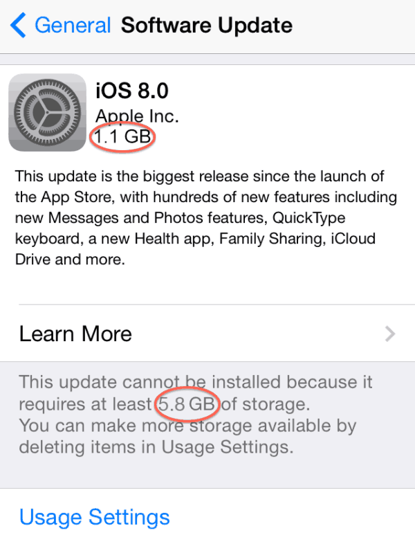 iOS 8 upgrade