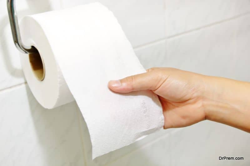 Electricity through used toilet paper