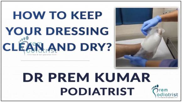 how to keep your dressing clean and dry