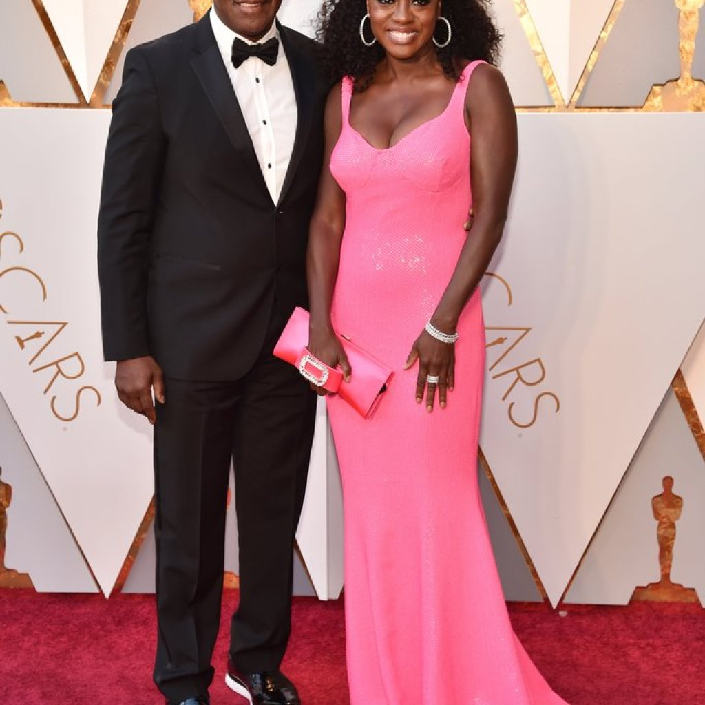 Viola Davis and Julius Tennon on the Oscars Red Carpet 2018