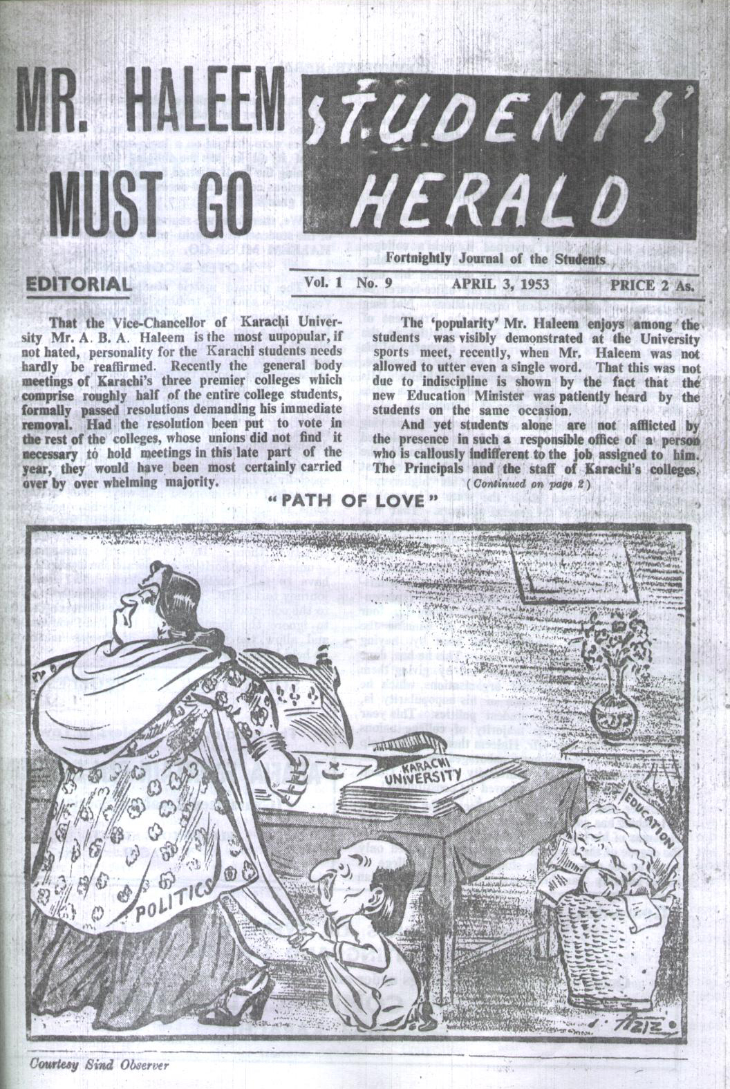 Students Herald, April 3, 1953