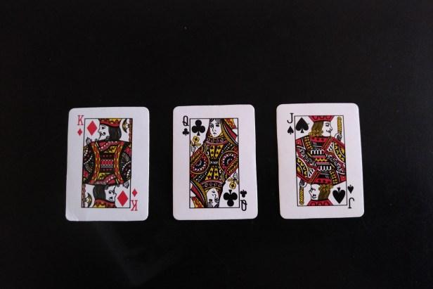 king, queen, jack
