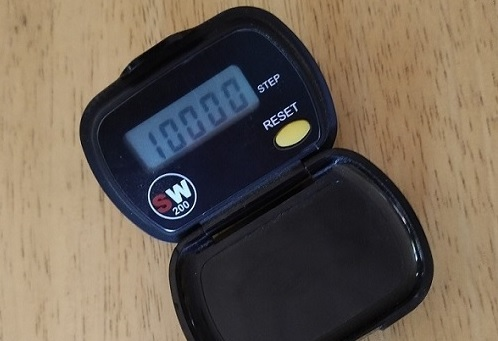 pedometer with 10,000 steps