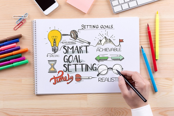 set realistic goals to avoid struggling with new year's resolution