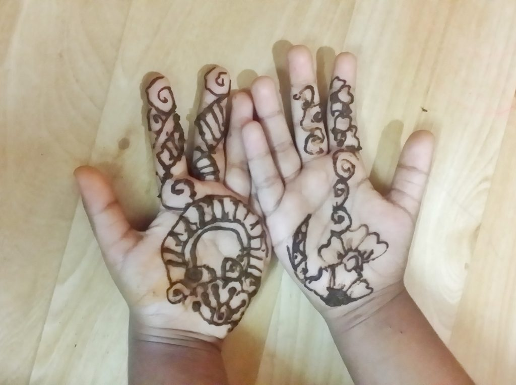Eid tradition with children - Henna