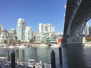 Here's a view across Vancouver Harbour, from Granville Island.