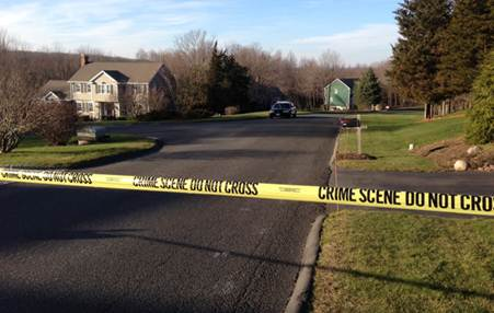 The neighborhood where gunman Adam Lanza lived. (Jason Sickles/Yahoo News)
