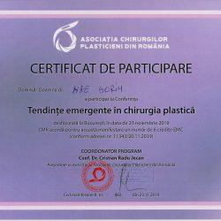 Conferinta Tend Emergente in Chir Plastica-Bucuresti 2019