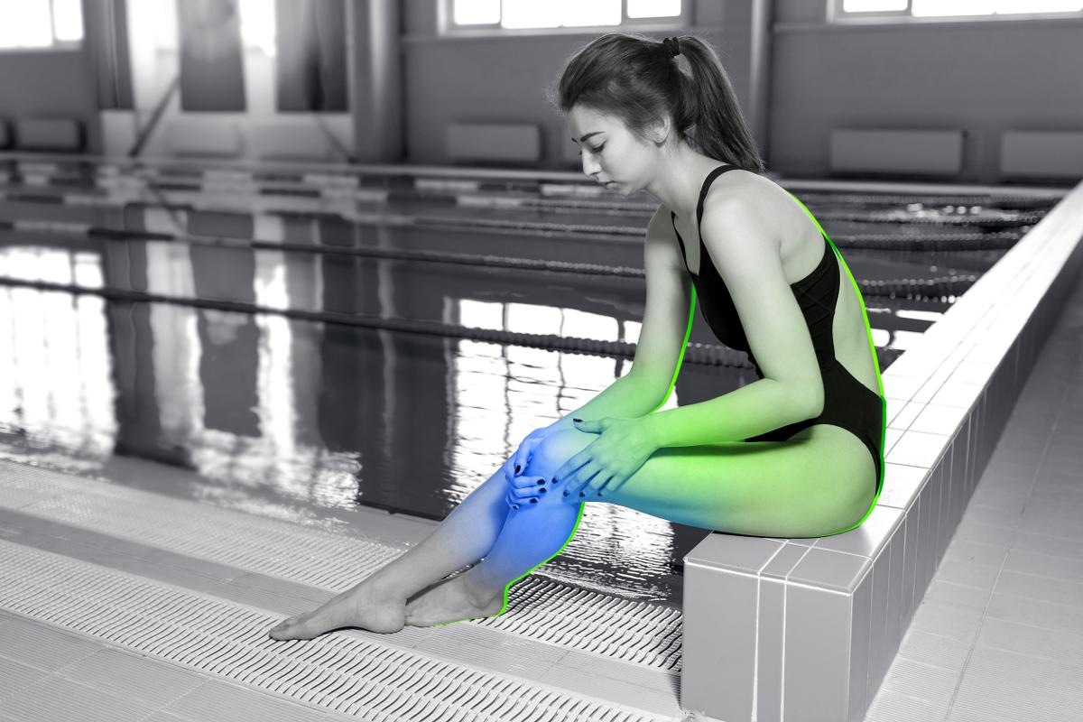 douleurs et blessures fréquentes du dos, de l'épaule, des genoux
