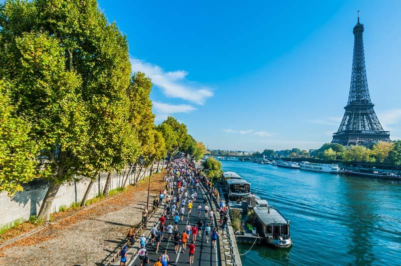 le 42ème Marathon de Paris s'est déroulé le 8 avril 2018