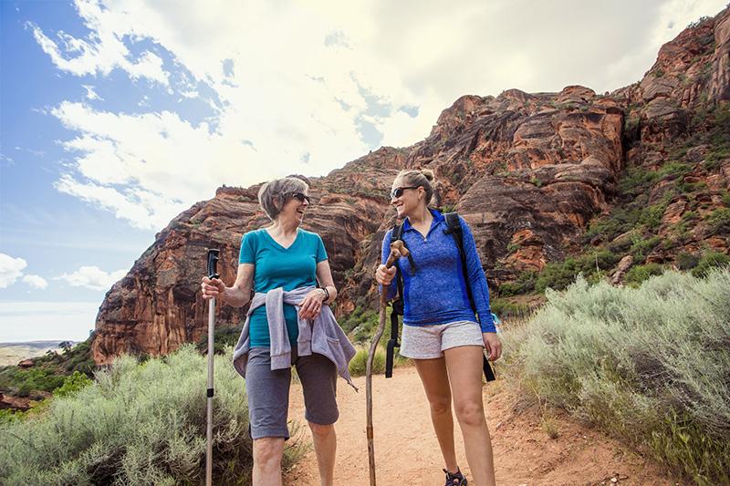 les bâtons de randonnée permettent d'améliorer l'appui et l'équilibre et ainsi d'avoir de meilleures performances même en cas de randonnées extrêmes comme un Ultra Trail.