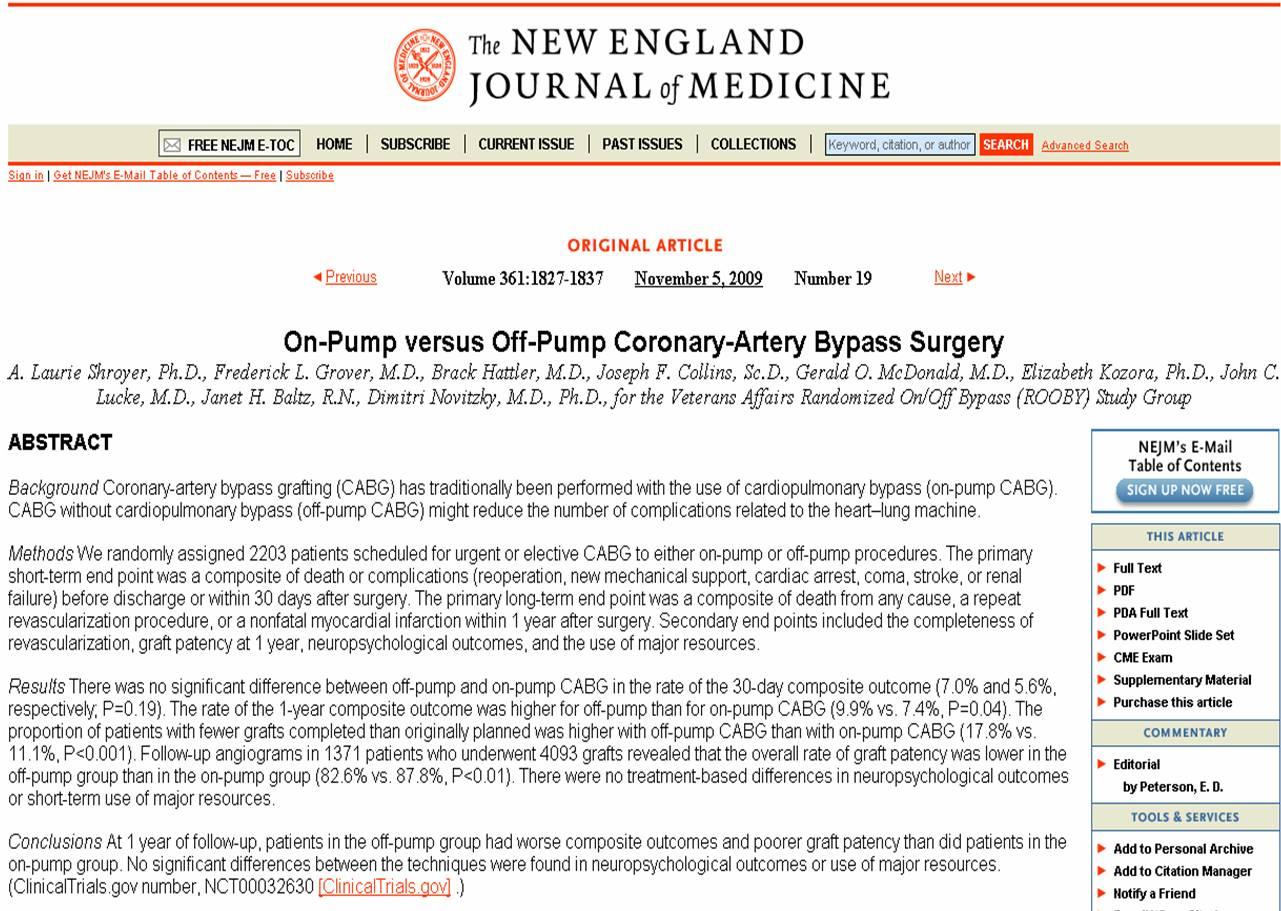 cabg on pump vs off pump beatin heart