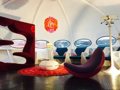 Inside the futuristic house