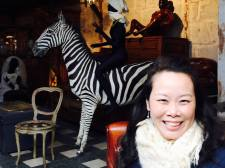 Anna and a stuffed zebra