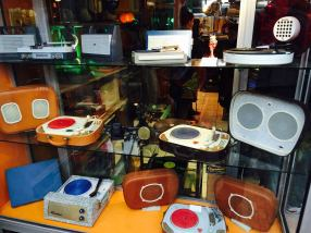 A stall that sold antique record players