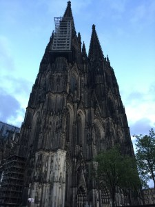 The cathedral near the train station in Koln