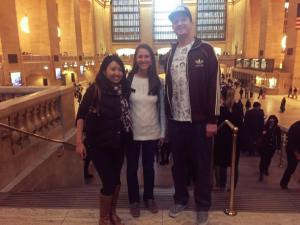 With Koto and Bridget in Grand Central Station.