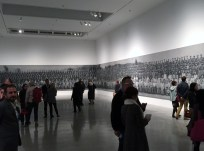 The view from the entrance of the gallery.