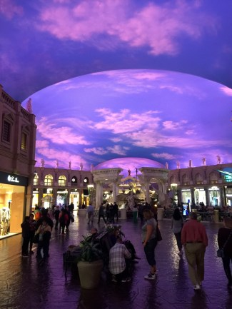 Inside one of many tacky buildings, Caesar's Palace