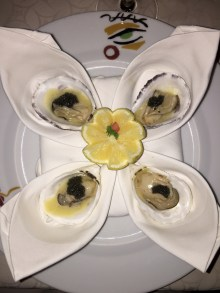 White wine braised oysters