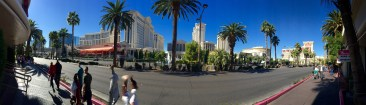 A panoramic shot of the strip