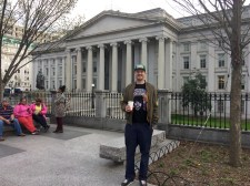 Me and the Treasury building