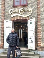 Out the front of the Carlsberg brewery