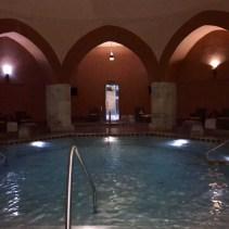 Inside the main pool