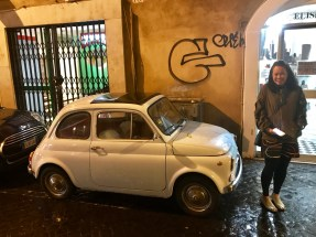 She's always loved the old Fiat 500