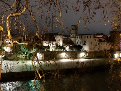 The view across the Tiber