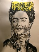 Frida Kahlo shaving