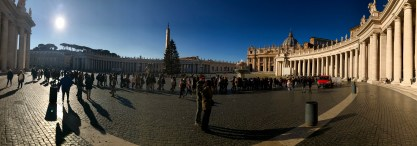 Panoramic shot of St. Peter's Square