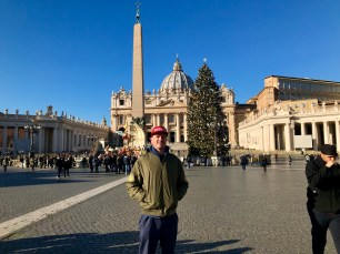 In front of the Obelisk at St. Peter's Basilica