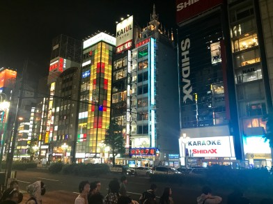 The main street near Shinjuku Station