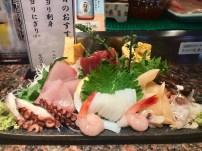 Our sashimi platter