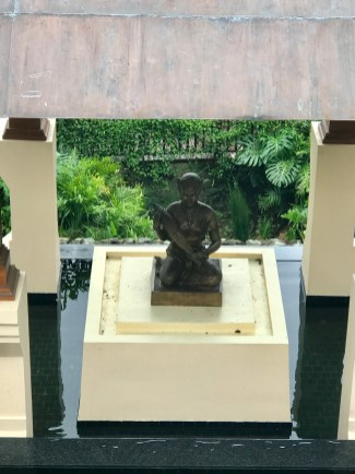 The statue inside the shrine
