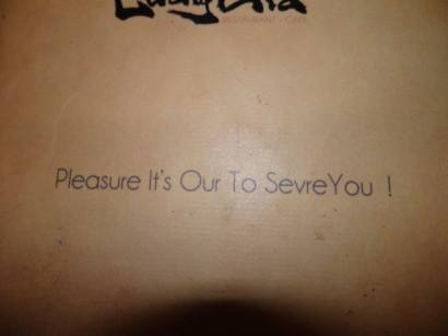 Pleasure It's Our To Sevre You !