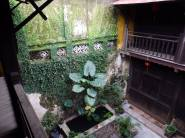 The courtyard of an old house