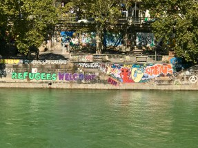 Some of the graffiti along the canal