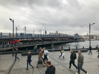 The seafood restaurants under the bridge