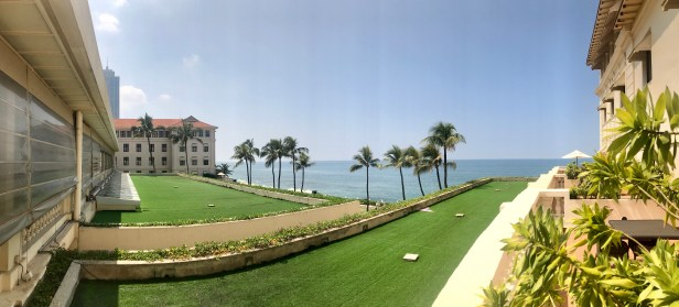 A panoramic view from our balcony