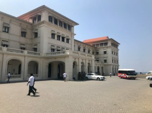 Part of the exterior of the Galle Face Hotel