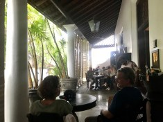 Waiting for the rain to stop at Galle Fort Hotel