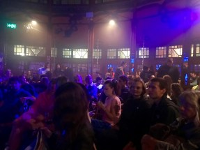 An intimate crowd inside the Melba Spiegeltent
