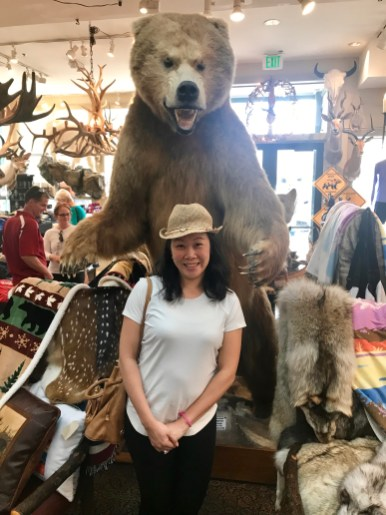 Anna was worried she wouldn't see any bears on this trip so she wanted this taken