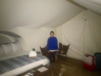 Inside our tent