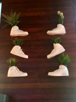 A shoe store used Nike Air Force 1s as vases