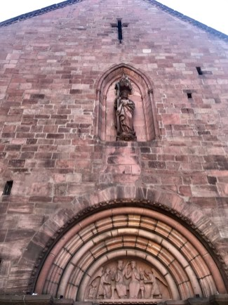 Outside of a church